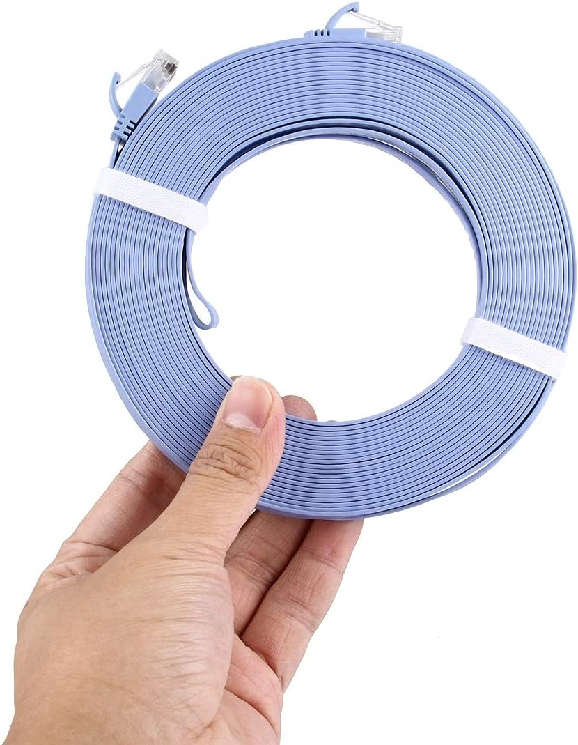 Nobrand Kim-HEI Length: 15m Blue CAT6 Ultra-Thin Insipid Ethernet Network LAN Cable