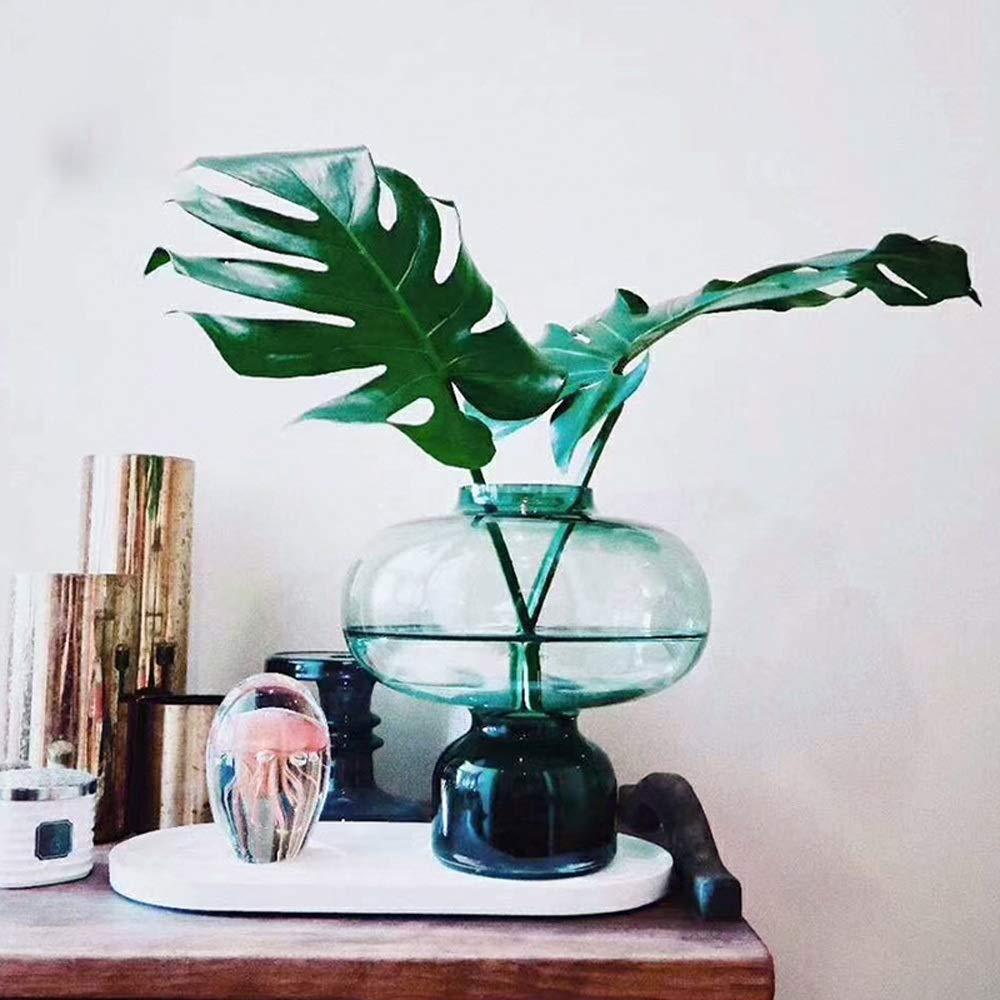 色ガラス花瓶用花緑植物結婚式の植木鉢装飾ホームオフィスデスク花瓶花バスケットフロア花瓶 (色 : 緑, パターン : B) B07R9VNRH6 緑 B