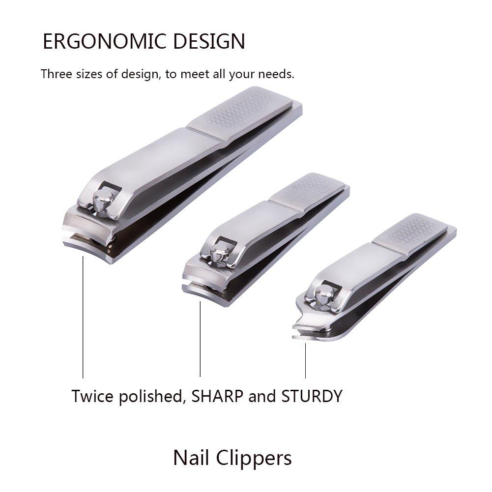 Amazon.com : Corewill Nail Clipper Set 12 in 1 Manicure and Pedicure ...