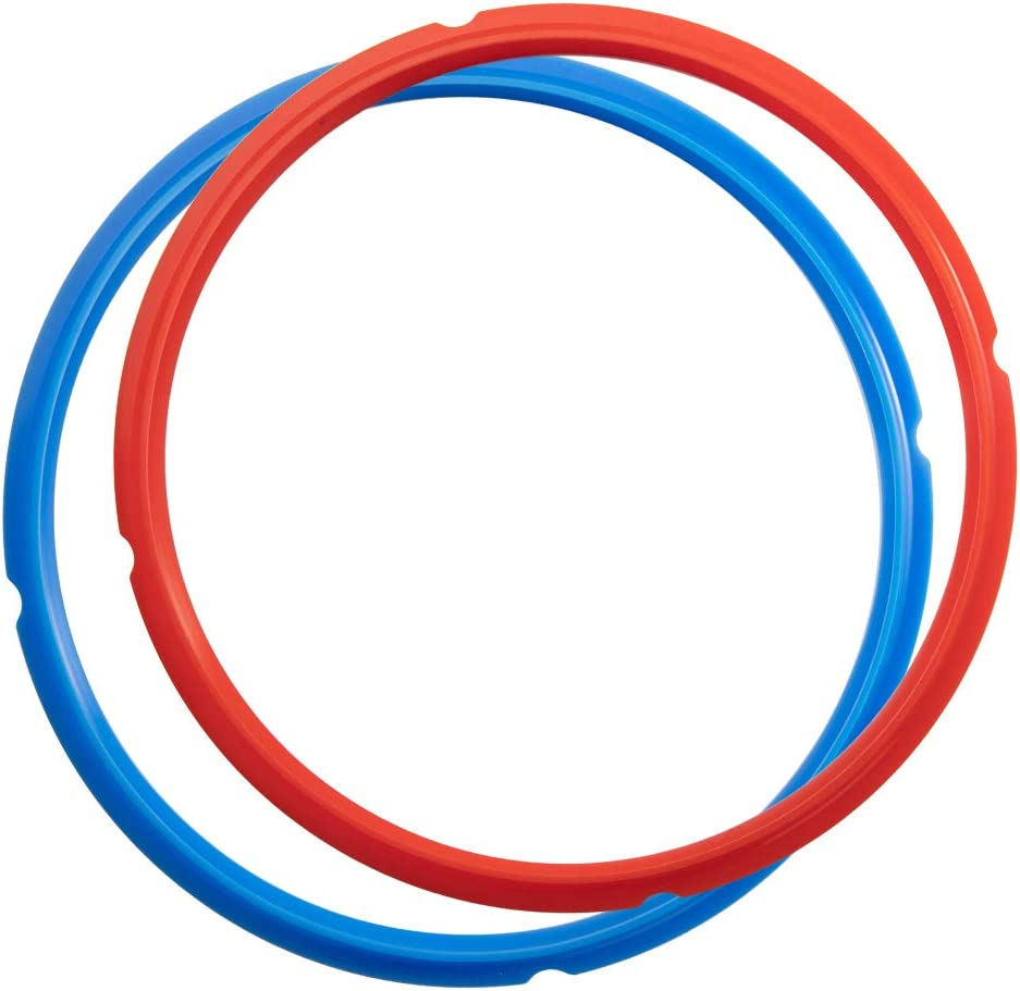 Goldlion Sealing Ring Compatible with Ninja Foodi 6.5 Quart and 8 Quart Silicone Gasket Accessories Rubber Sealer Replacement for Pressure Cooker and Air Fryer, Pack of 2