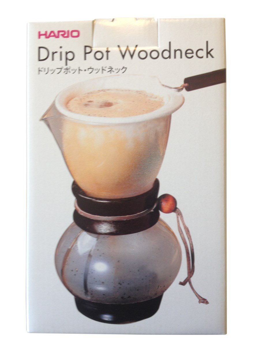 Hario woodneck coffee drip pot - Amazon Com Hario Drip Pot Woodneck And 3 Extra Filters For A Total Of 4 Filters Kitchen Dining