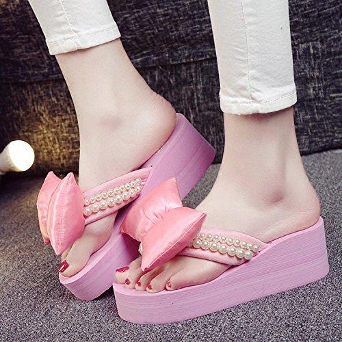 Donyyyy Cubierta Inferior Suave Playa Zapatos, Zapatillas, Frío Interior e Inferior Grueso Inferior Suave Pendiente. Thirty-seven