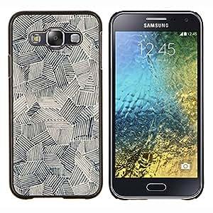 Eason Shop / Premium SLIM PC / Aliminium Casa Carcasa Funda Case Bandera Cover - Pintura Arte Formas Negro Blanco - For Samsung Galaxy E5 E500