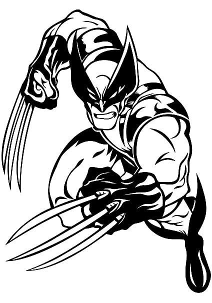 Animated Logan Super Hero Cartoon Wolverine Vinyl Print Children's Interior Wall Decor Superhero Roommate Art Design