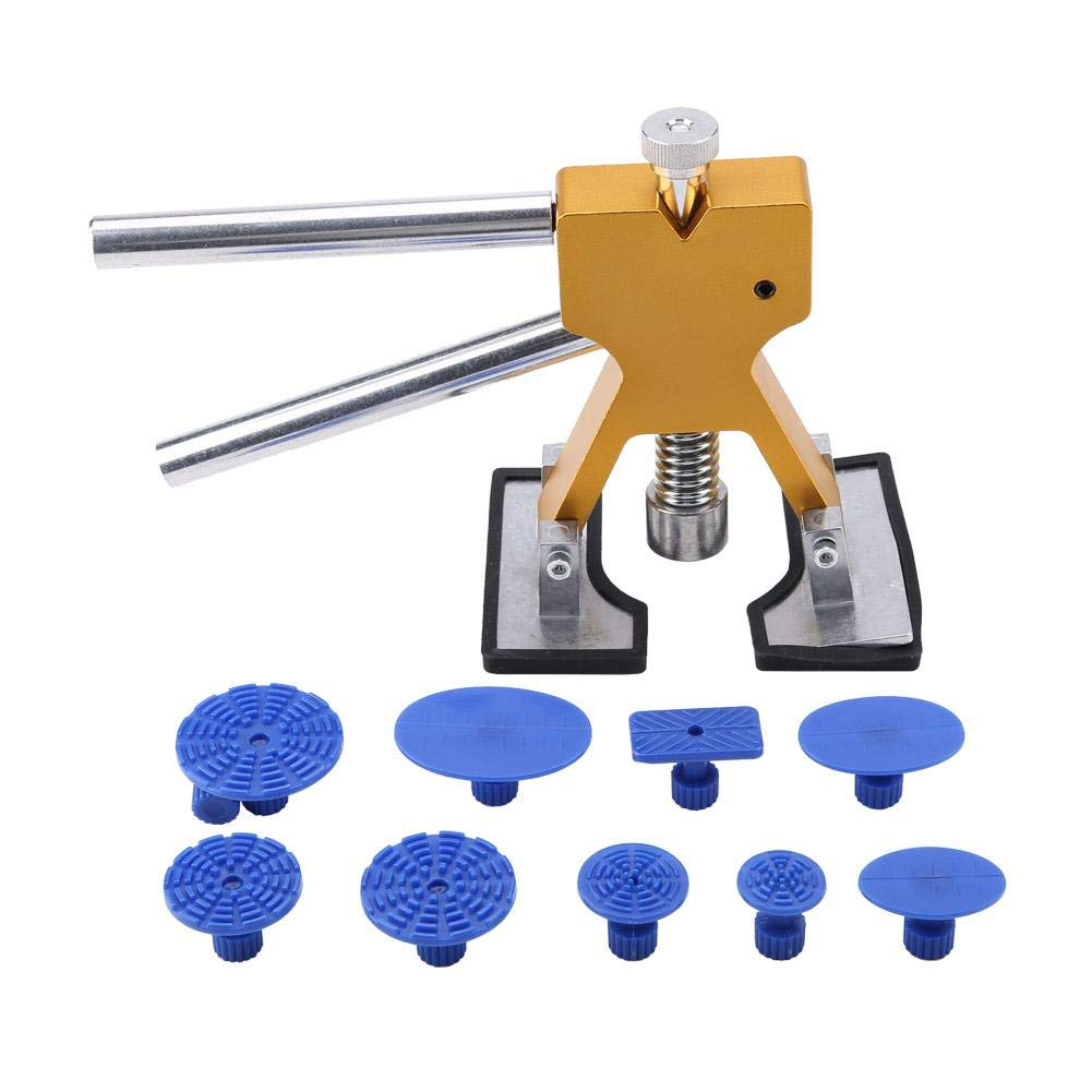 Cuque Dent Repair Tool Auto Car Body Paintless Removal Repair Tool Iron Dent Lifter with 10 Glue Puller Taps Kit Universal