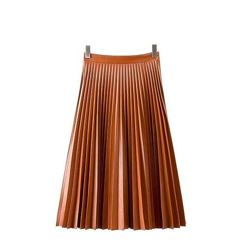Cintura Delgada Falda Faldas Con Pliegues