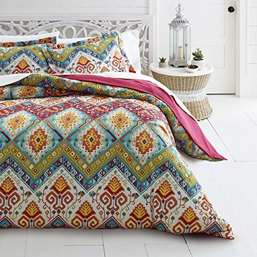 - Azalea Skye Moroccan Nights Duvet Cover Set, King, Blue