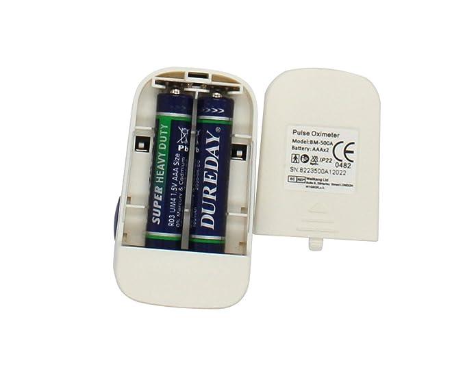 BabyMad PulseOximeter-500A - Oxímetro con alarma, color blanco y azul: Amazon.es: Salud y cuidado personal