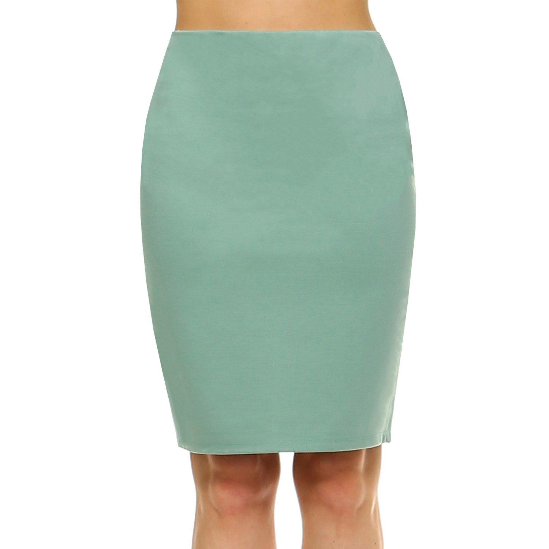 Fashionazzle SKIRT レディース B072Q41PY4 Small|Ks05-sage Ks05-sage Small