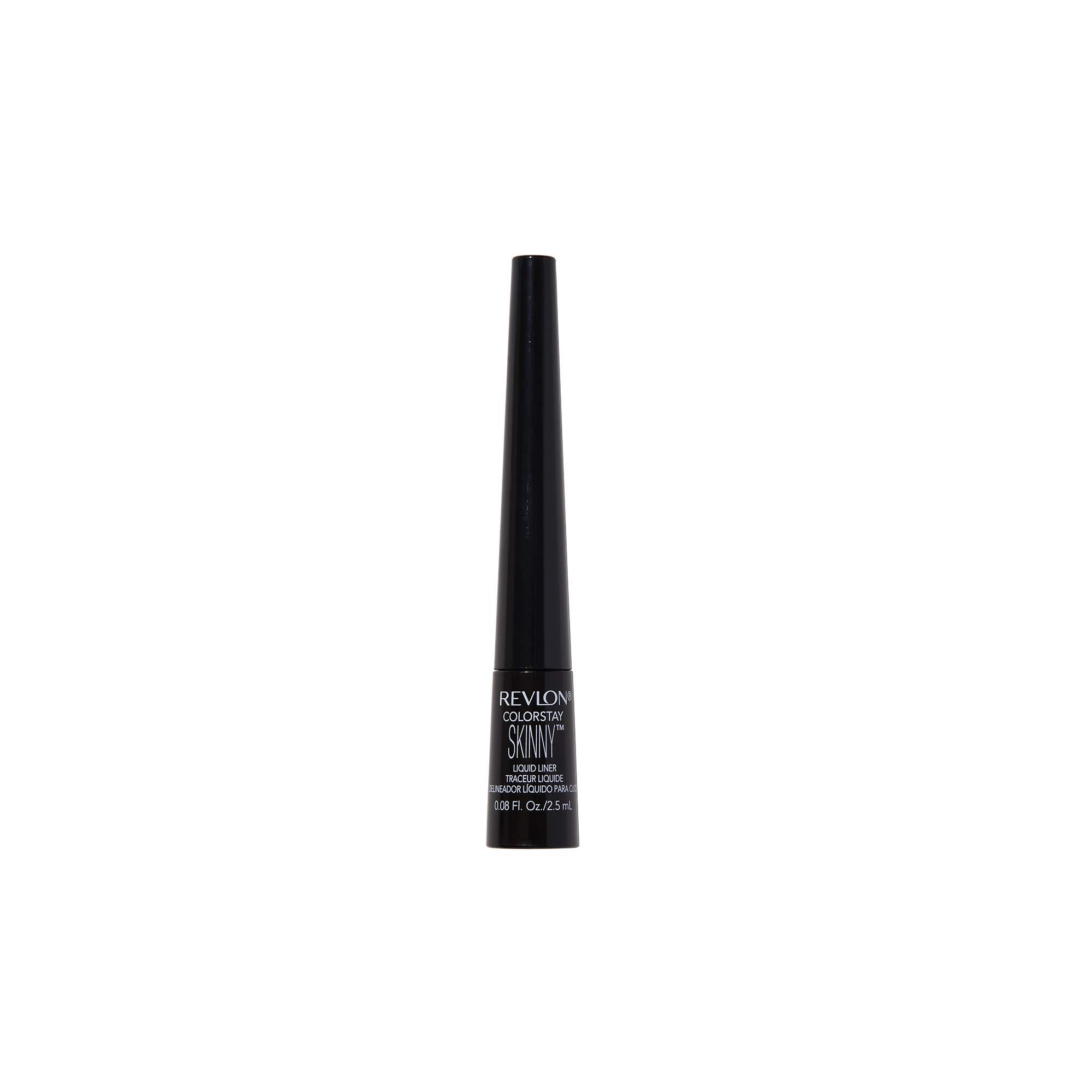 REVLON ColorStay Skinny Liquid Eyeliner, Waterproof, Smudgeproof, Longwearing Eye Makeup with Ultra-Fine Tip, Black Out (301)
