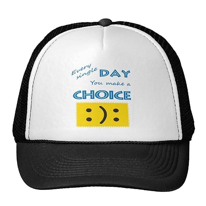 Goodaily Funny Choice Trucker Hat Baseball Mesh Caps Black