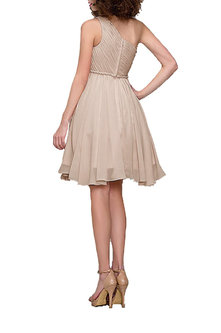 4f81752535f Amazon.com  99Gown Cocktail Dress One Shoulder Prom Formal Dresses for Women  Bridesmaid Dresses Short  Clothing