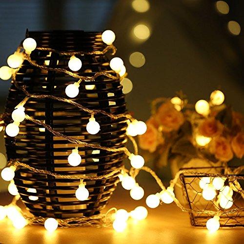 KEEDA 100LED cadena luces, 10 m/33ft globo decoración bombilla, luces exterior jardín, luces exterior, ...