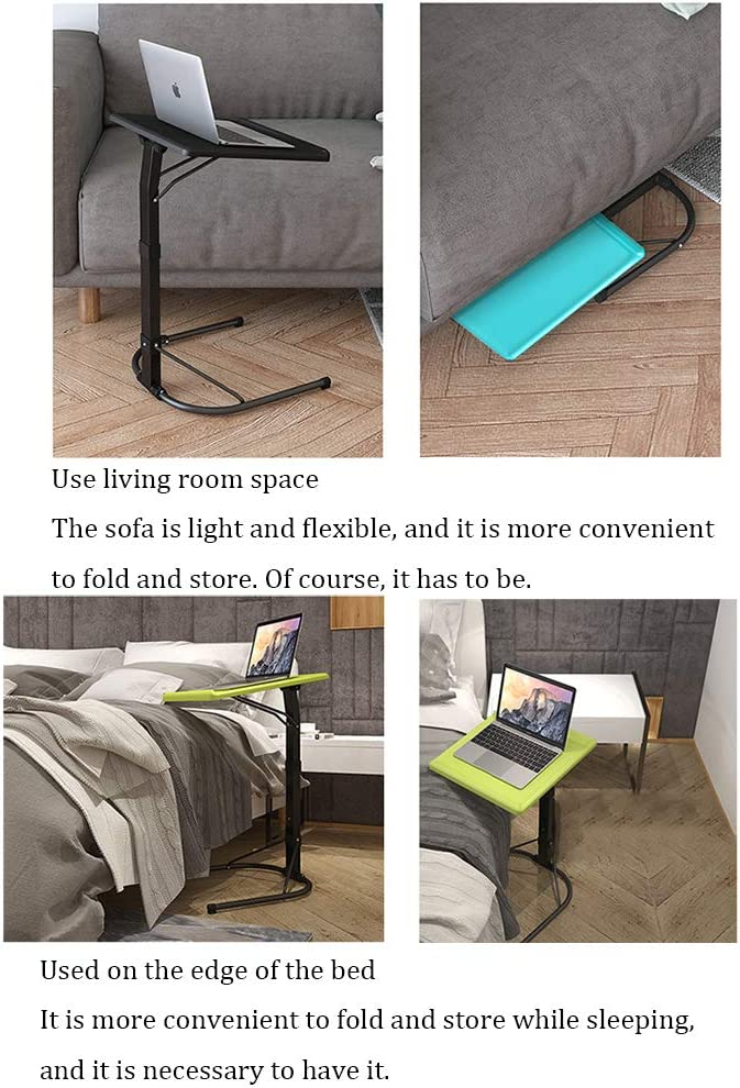 daily supplies Foldable Lift Laptop Table Portable Outdoor Camping Table Removable 3-Speed Height Adjustment Study Sofa Table 90/° Desktop Adjustment Bedside Table