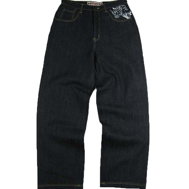 #-MJ1431- MJ1437 Men's 13oz Art Printed Pocket Design Denim Jeans Size: 32