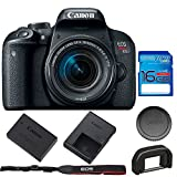 Canon EOS Rebel T7i DSLR Camera with 18-55mm Lens + 16GB SD Memory Card