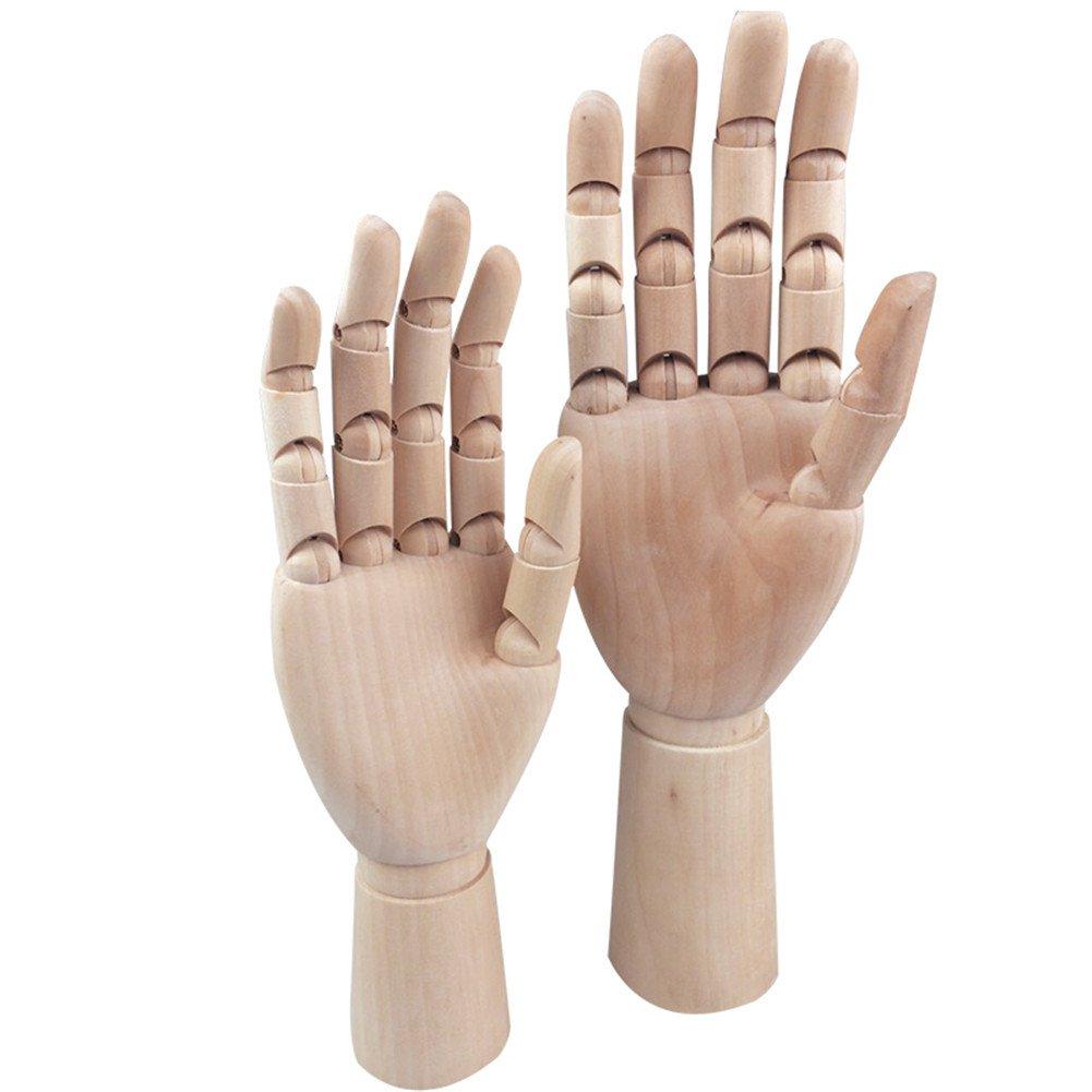 cheerfullus 7 Artist Wood Hand Model Adjustable Wooden Sculpture Mannequin Hand Manikin for Jewelry Display Stand,Sketch,Drawing,Art Class Model Tool Left Hand