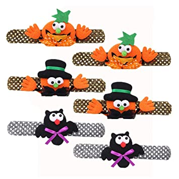 Toyvian Halloween Slap Pulseras Calabaza Pulseras Novedad Pulsera ...