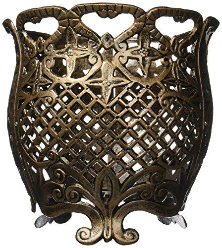 (Oakland Living Round Cast Aluminum Flower Pot, 12-Inch, Antique Bronze)