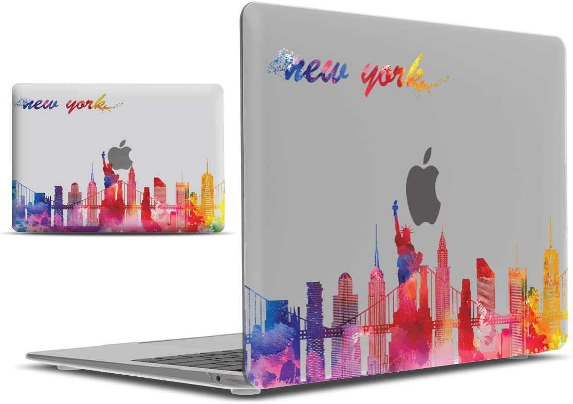 IBENZER MacBook Air 13 Inch Case 2020 2019 2018 New Version A1932, Hard Shell Case Cover for Apple Mac Air 13 Retina with Touch ID, New York, MAD-T13NYC