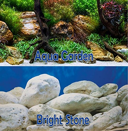 Aqua Garden/Bright Stone 18'' Aquarium Terrarium Double-sided Background (18'' x 24'') by Brown Sugar