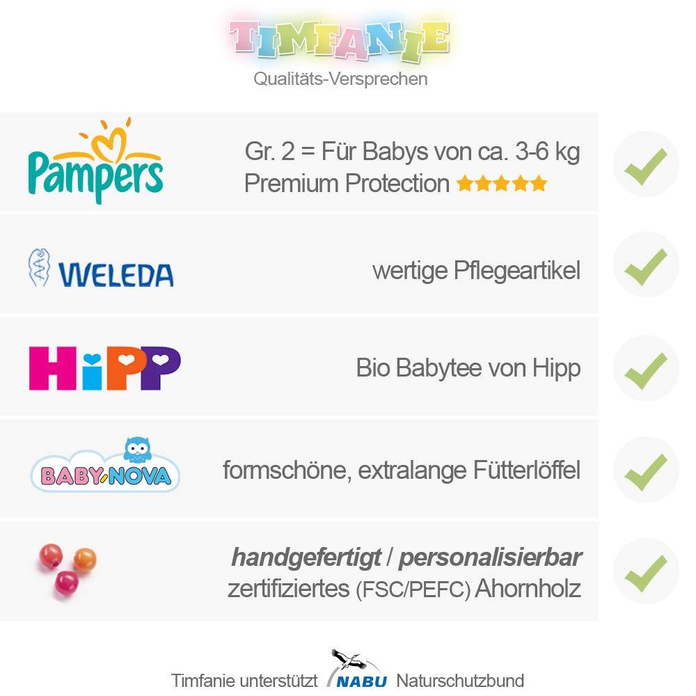 Baby 4-8 Kg 1-st/öckig Steiff B/ärchen 3in1 Windeln Gr 2 Timfanie/® Windeltorte blau-punkt