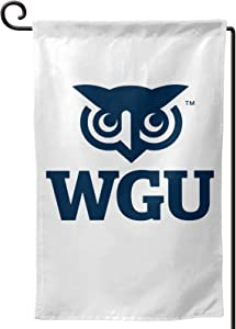 Cwokakde Western Governors- University Garden Flag - Double Sided Banners for Outdoor Indoor Home Garden Yard Decorations
