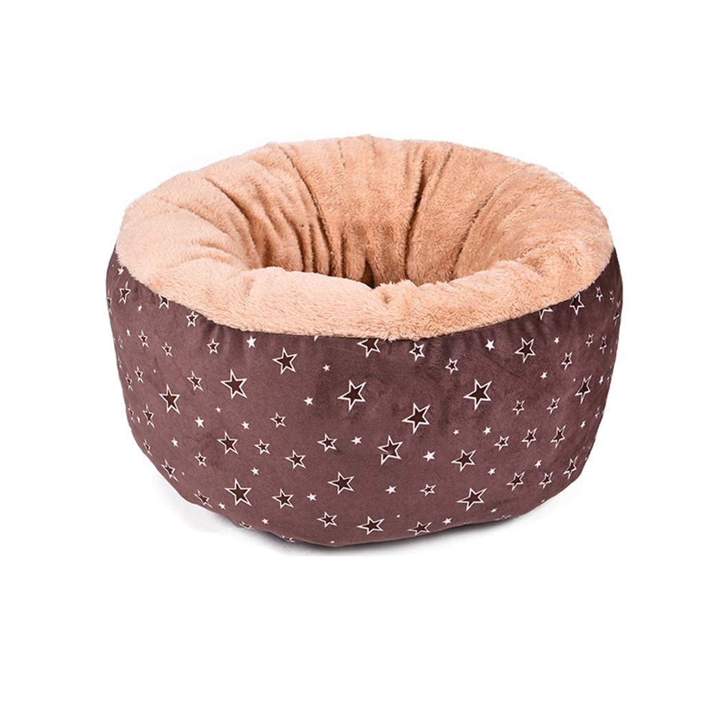 Brown LITING Cat Litter Thickening Pet Nest Cat House Cat Villa Four Seasons Universal Cat Sleeping Bag Cat Supplies (color   Brown)
