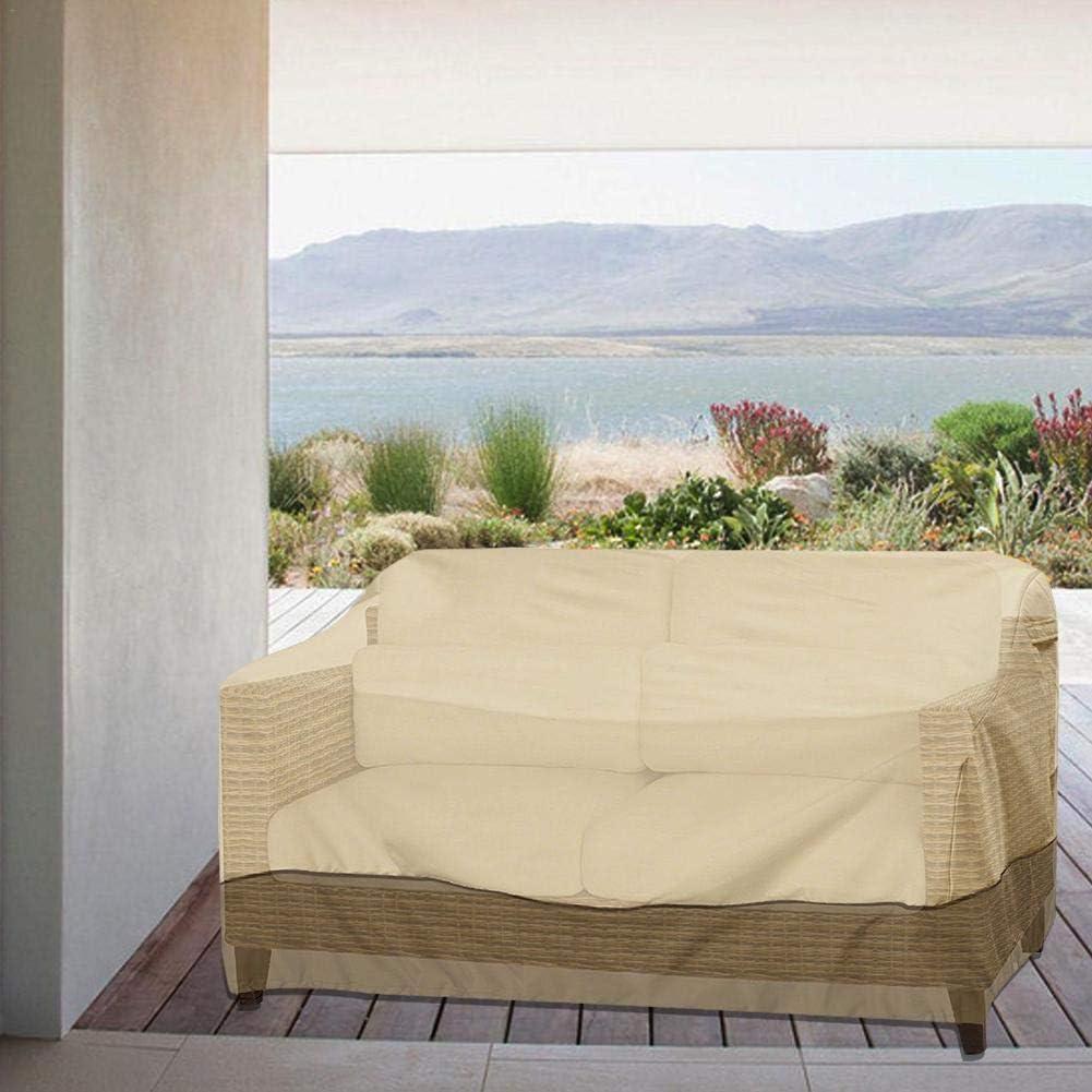 3 posti da esterno 147 /× 83 /× 79 cm Copridivano da giardino con coulisse Impermeabile anti UV Coperchio di protezione per poltrona da salotto Love Seat 2 posti