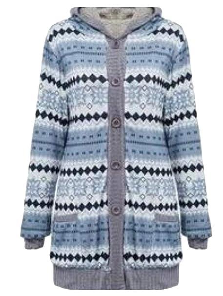 d949cb944 Highisa Women Long-Sleeve Pocket Thickened Velvet Button Floral ...