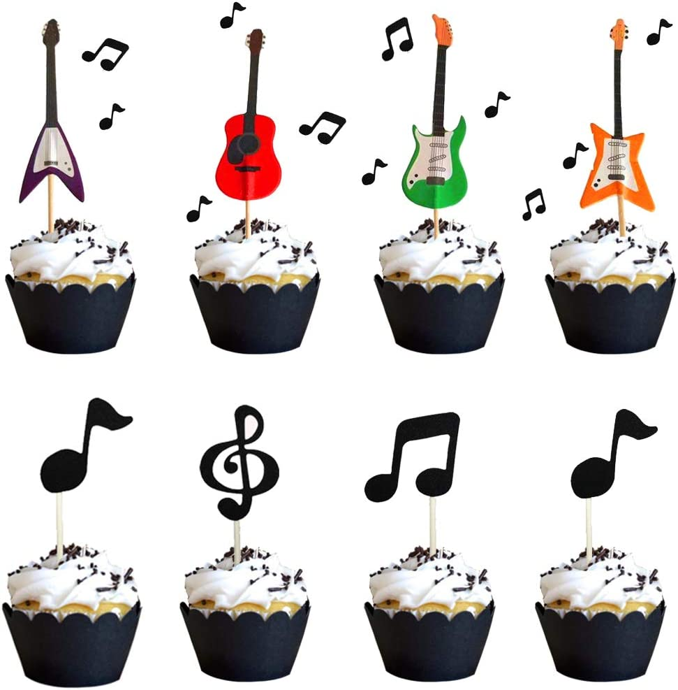 40Pcs Funny Pirate Theme Cupcake Cake Topper Cake Flags Banner for Kids Birthday