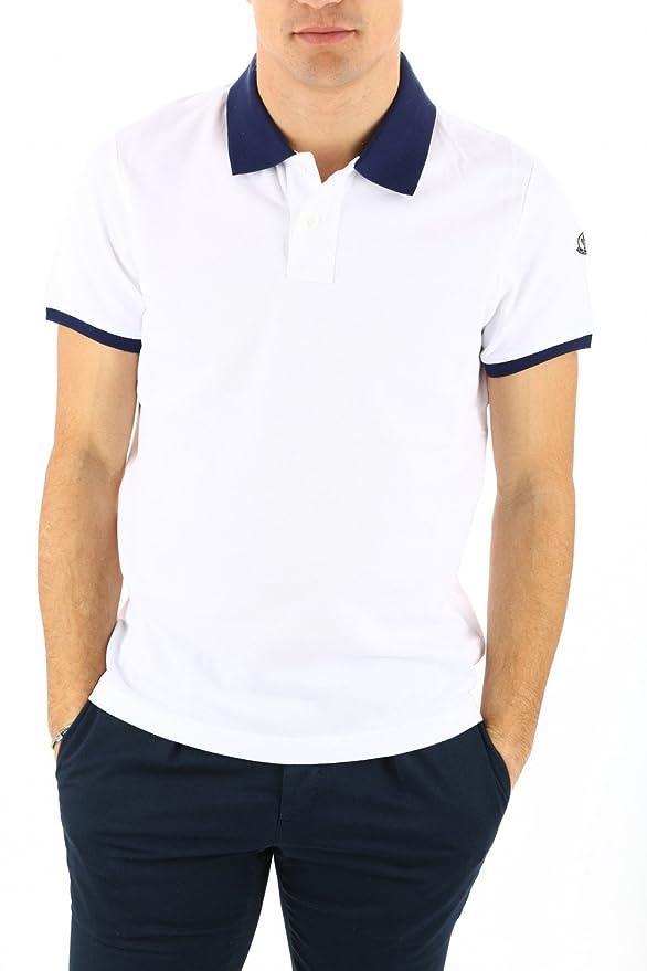 cdce28c4e077 MONCLER for men polo shirt short sleeve navy cotton model maglia ...