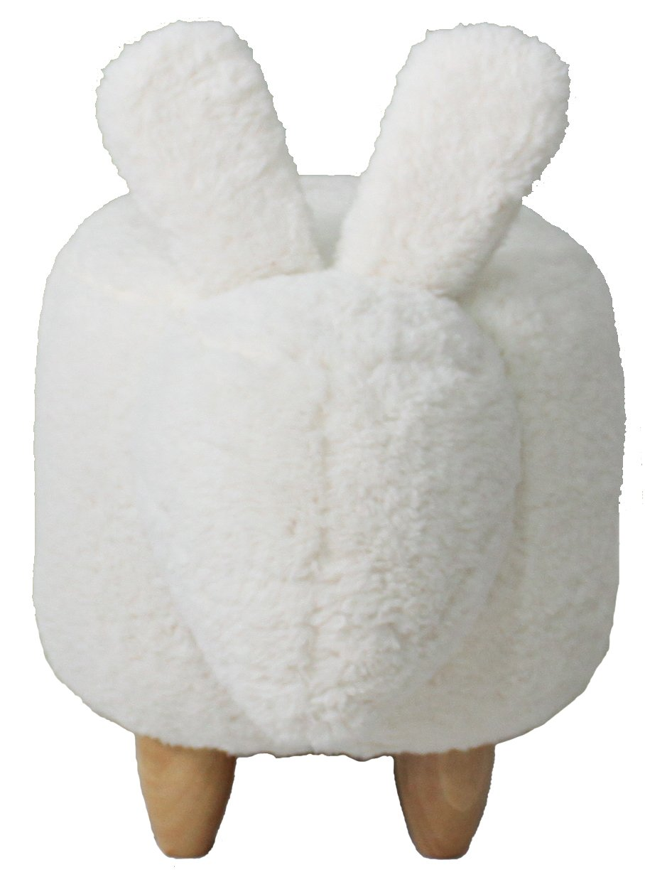 Haosoon Animal ottoman Series Storage Ottoman Footrest Stool with Vivid Adorable Animal-Like Features (White Rabbit) (WITHOUT STIRAGE) by HAOSOON (Image #3)