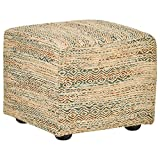 Rivet Modern Upholstered Cube Ottoman, 20″W, Boho Review