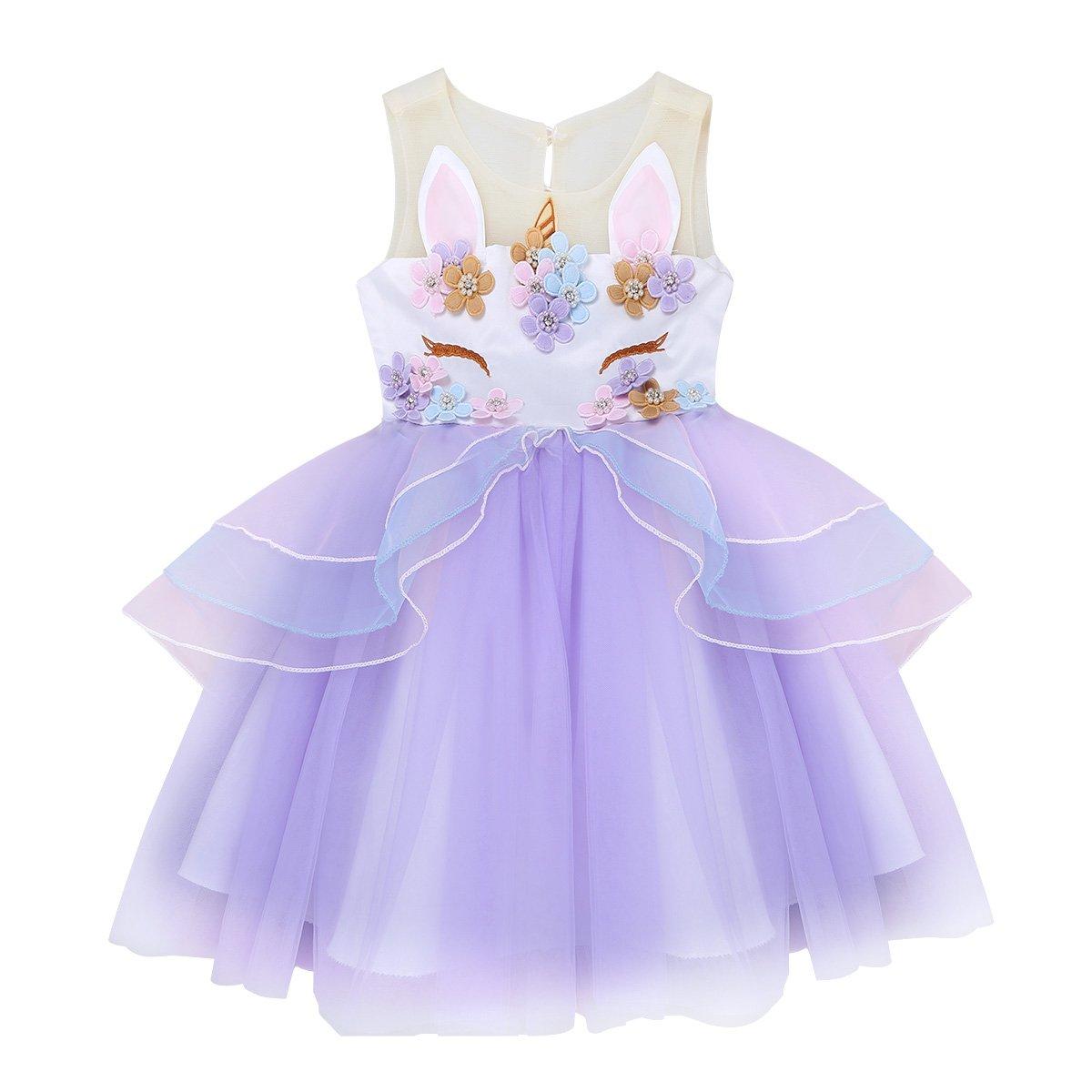 Amazon.com: feeshow niños disfraces de niña planchando de 3d ...