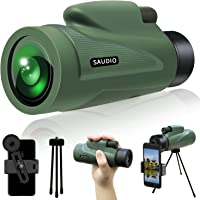 12X50 HD Monocular Telescope with Quick Smartphone Holder, Day & Low Night Vision Monocular for Adults Kids, SAUDIO…