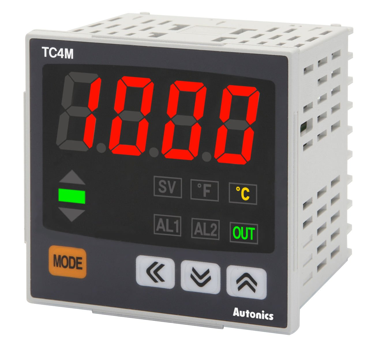 Autonics TC4M-N4R Temp Control, W72 x H72, Single display 4 Digit, PID Control, Relay & SSR Output, No Alarm Output, 100-240 VAC by Autonics USA, Inc