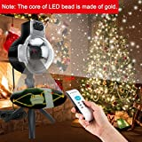 Snowfall LED Lights Christmas Projector Lights 6W IP65 Waterproof Sparkling White Snow Decoration lighting With Wireless Remote Control for Wedding Holiday Party New Year