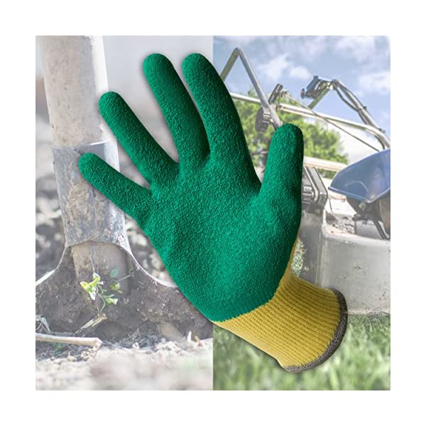 Guantes de Travail Guantes para Cavar Tambi/én Ideales como Guantes para Rosales y Lechos de Flores Guantes de Jardiner/ía y para Trabajar el Suelo del Jard/ín Talla S 3 Pares de Guantes de Jardinero Garden Eden EN 388