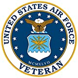 1-Pc Optimal Fashionable United States Air Force Veteran Sticker Sign Indoor 1-Side Printed Police Size 3.5