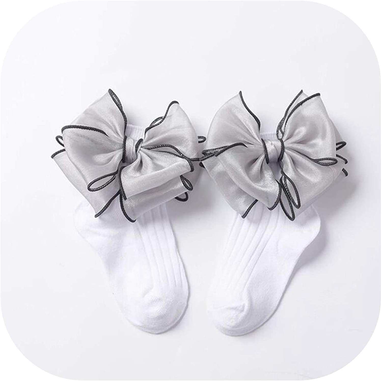 Girls Kids Toddlers Children Pretty Tutu w//Bow Ankle Wedding Party School Socks
