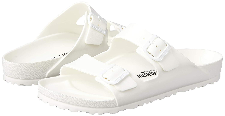 0f42fa978a3d Amazon.com | Birkenstock Unisex Arizona Essentials EVA White Sandals - 36 N  EU/5-5.5 2A(N) US | Sandals