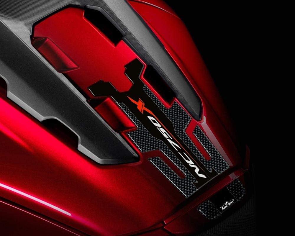 Adesivi moto Sticker protezione del motociclo accessori in fibra di carbonio Fuel Oil Gas rilievo del carro armato Tankpad decalcomania for HONDA NC750X NC 750X NC700 NC700X Color : NC700