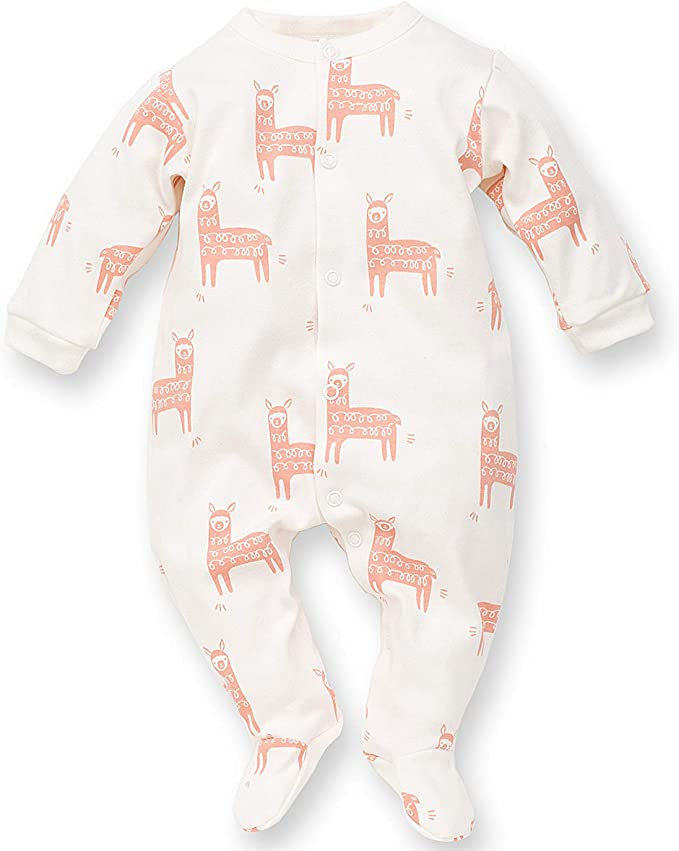 /ärmellos 100/% Baumwolle Schlafanzug//Einteiler Happy Llama Kinder M/ädchen Jungen Lama Motiv Baby Strampler T/ürkis oder Orange//Apricot Pinokio