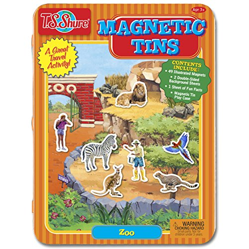 Playset Tin - T.S. Shure Zoo Magnetic Tin Playset