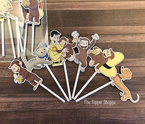 12 Cupcake Toppers CURIOUS GEORGE ()