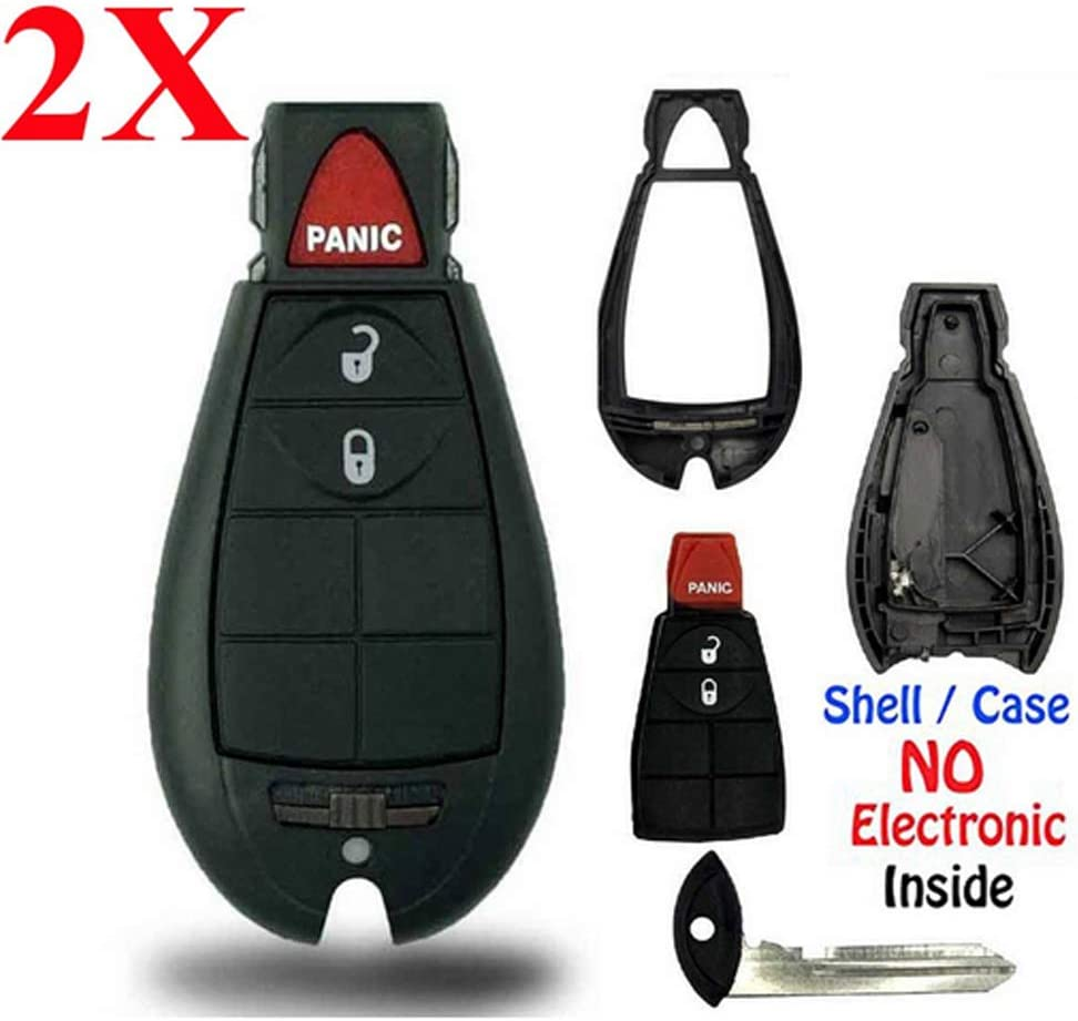 IYZ-C01C 56046707AE For Chrysler Town Country Dodge Challenger Charger Durango Grand Caravan Journey /& Ram SHELL//CASE ONLY 2 New Keyless Entry 3 Buttons Remote Key Fob M3N5WY783X No Electronic