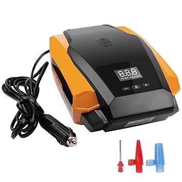 Inflador automático de neumáticos digital, bomba de compresor de aire para neumáticos 12V, manómetro
