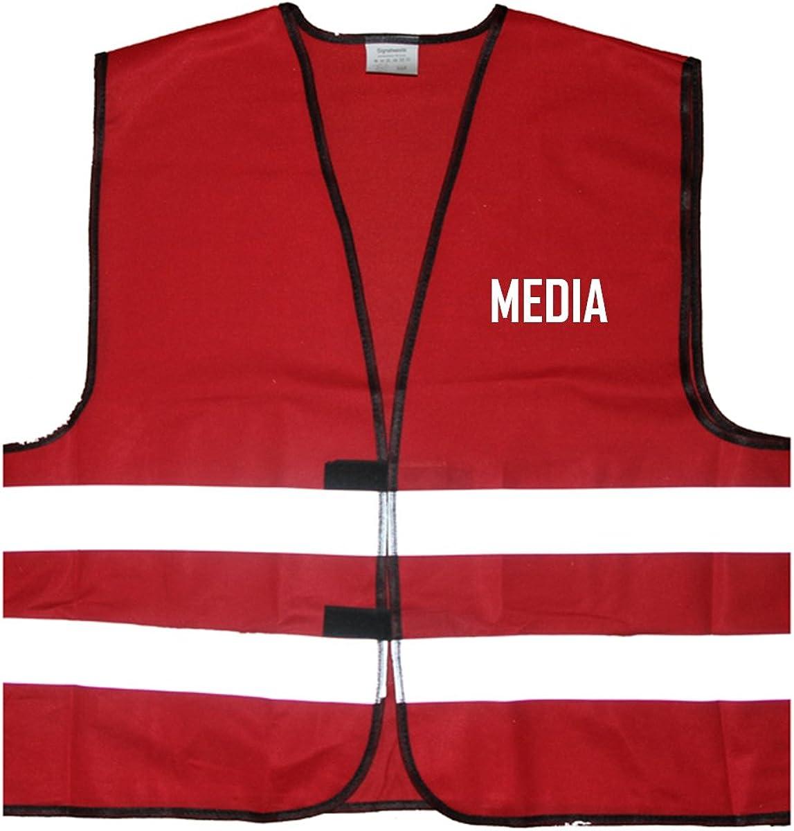Media Warnweste Einheitsgr/ö/ße bis XXL