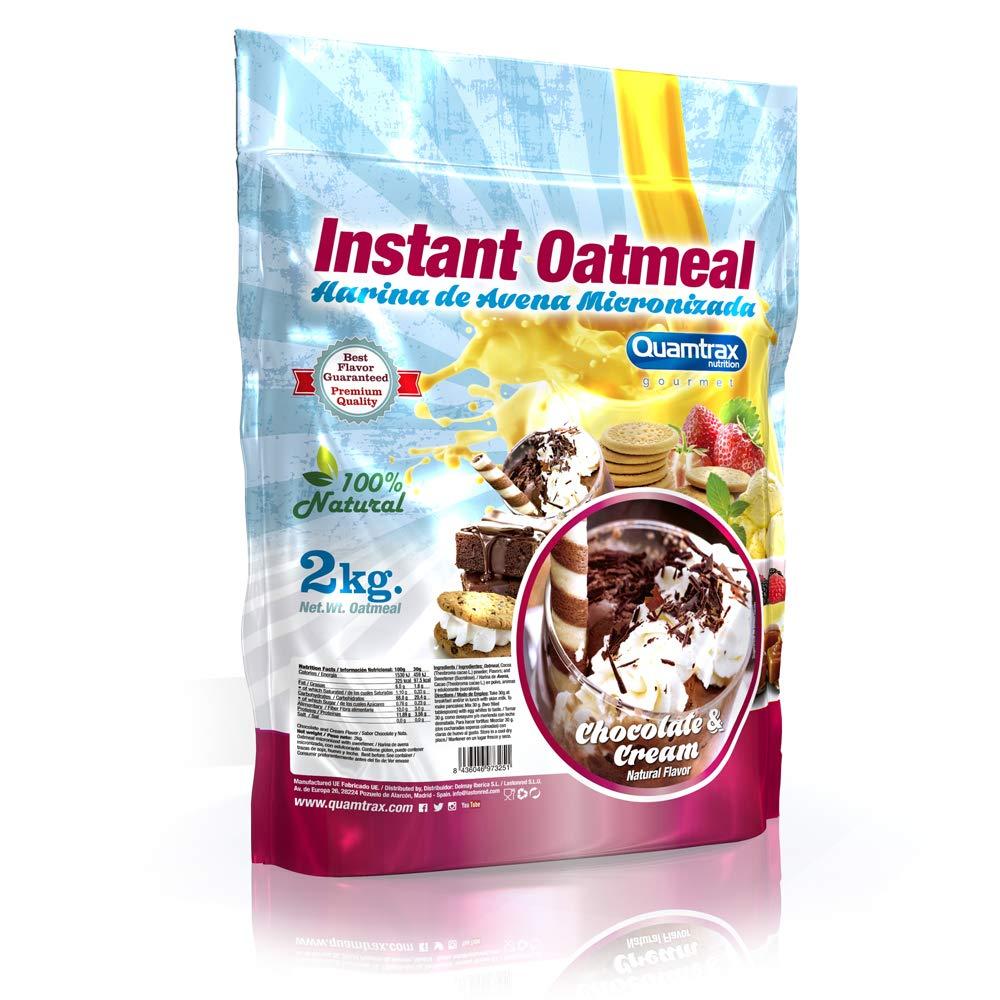 Quamtrax Nutrition Avena Instantánea, Sabor Chocolate con Crema - 2000 gr
